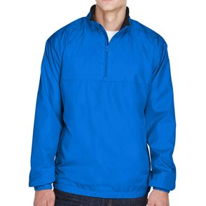 UltraClub Micro-Poly Quarter-Zip Wind Shirt