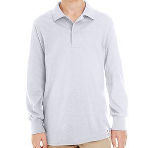 Jerzees SpotShield™ Kids Long Sleeve Polo Shirts