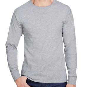 Hanes Workwear Long Sleeve Pocket Shirt
