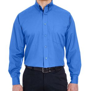 UltraClub Men's Easy-Care Broadcloth Button Up Shirt