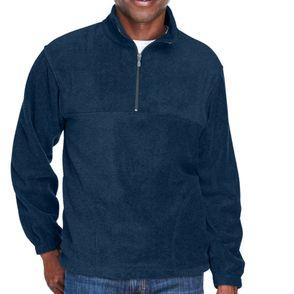 Harriton Quarter Zip Fleece Polo