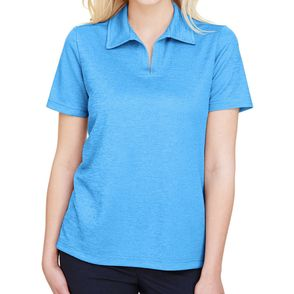 Devon & Jones CrownLux Performance™ Women's Melange Polo Shirt