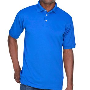 UltraClub Men's Platinum Polo Shirt with TempControl Technology