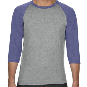 Anvil Tri-Blend 3/4 Sleeve Baseball Shirt