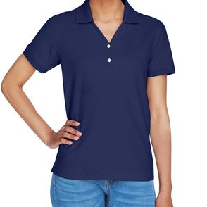 Devon & Jones Women's' Short Sleeve Pique Polo