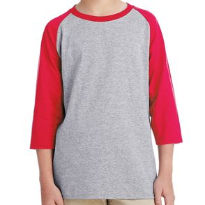 Gildan Kids Heavy Cotton™ 5.3 oz. 3/4-Raglan Sleeve T-Shirt