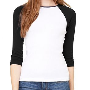 Bella + Canvas Women's Baby Rib Raglan T-Shirt