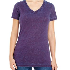 Threadfast Apparel Women's Cross Dye V-Neck T-Shirt