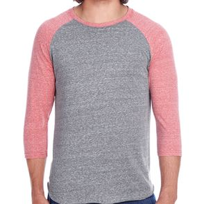 Threadfast Apparel Unisex Triblend 3/4-Sleeve Raglan T-Shirt