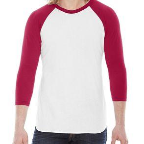 American Apparel Raglan 3/4-Sleeve Shirt