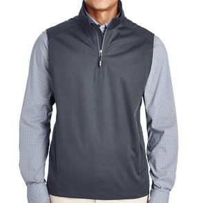 Core 365 Men's Techno Lite Three-Layer Knit Quarter-Zip Vest