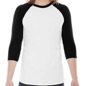 American Apparel Raglan 3/4-Sleeve Shirt