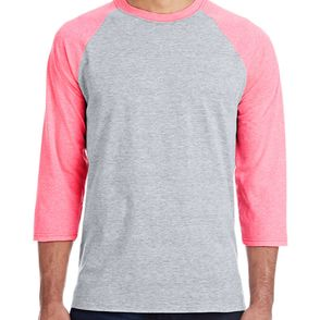 Hanes 4.5 oz., Poly-Cotton X-Temp® Baseball T-Shirt