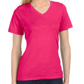 Bella + Canvas Women's Relaxed Fit V-Neck T-Shirt