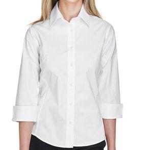 Devon & Jones Perfect Fit™ Women's Quarter Sleeve Button Up