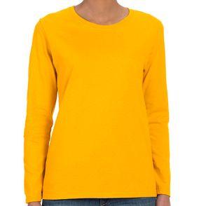 Gildan Heavy Cotton Women's Long-Sleeve Shirt