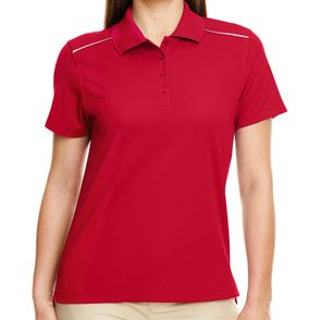 Core 365 Women's Radiant Polo Shirt with Reflective Piping