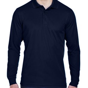 Core 365 Men's Tall Pinnacle Performance Long Sleeve Polo Shirt