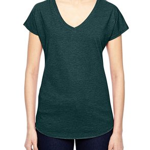 Anvil Tri-Blend Women's V-Neck T-Shirt