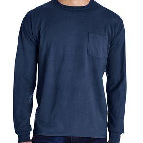 Hanes ComfortWash Cotton Long Sleeve Pocket Shirt