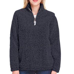 J America Women's Epic Sherpa Quarter Zip Pullover