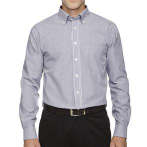 Devon & Jones Crown Collection™ Banker Stripe Button Up Shirt
