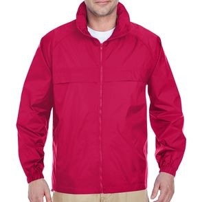 UltraClub Zip Up Pack-Away Jacket with Hood
