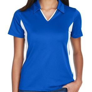 Harriton Women's Color Block Pique Polo