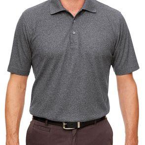 UltraClub Men's Heathered Pique Polo Shirt