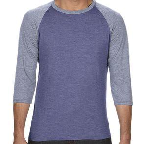 Anvil Tri-Blend 3/4 Sleeve Baseball Shirt