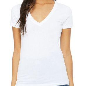 Bella Canvas Women's Deep V-Neck T-Shirt