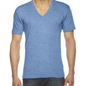 American Apparel Unisex Triblend V-Neck T-Shirt