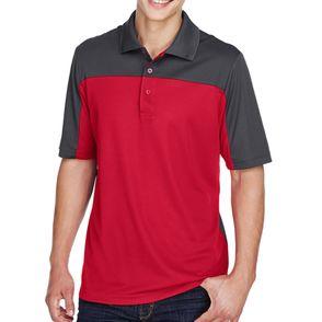 Core 365 Men's Balance Colorblock Performance Pique Polo Shirt