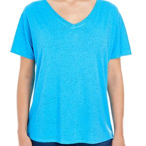 Threadfast Apparel Women's Triblend Fleck V-Neck T-Shirt