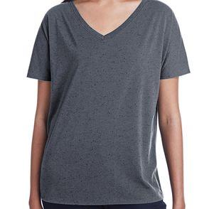 Threadfast Apparel Women's Triblend Fleck V-Neck T-Shirt