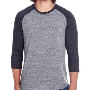 Threadfast Apparel Unisex Triblend 3/4-Sleeve Raglan T-Shirt