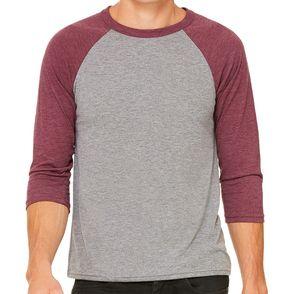 Bella + Canvas Unisex 3/4-Sleeve Baseball T-Shirt