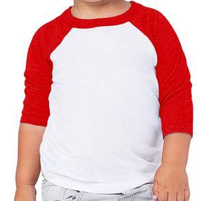 Bella + Canvas Toddler 3/4-Sleeve Baseball Shirt
