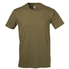 Soffe Adult Unisex Ringspun Cotton Military USA Tee