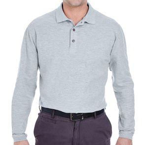 UltraClub Long Sleeve Whisper Pique Polo Shirt