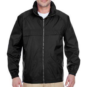 UltraClub Zip Up Pack-Away Jacket with Hood