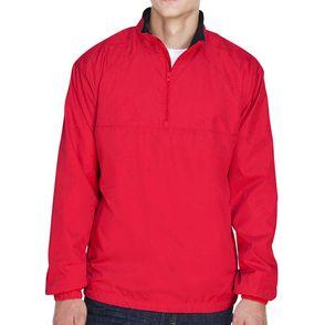 UltraClub Micro-Poly Quarter-Zip Wind Shirt