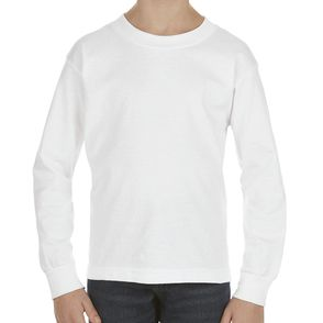 Alstyle Kids 100% Cotton Long Sleeve Shirt