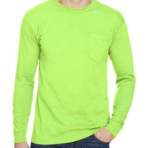 Bayside  Union-Made Long Sleeve Pocket Shirt