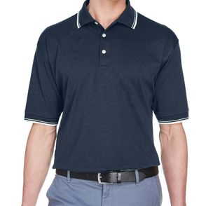 Devon & Jones Tipped Perfect Pima Interlock Polo Shirt