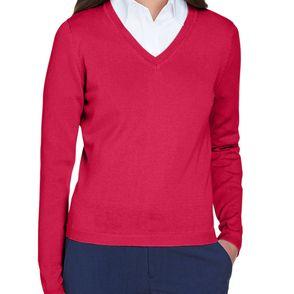 Devon & Jones Women's V-Neck Cardigan Sweater