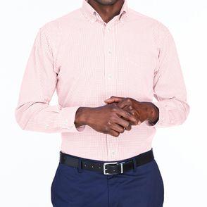 Devon & Jones Crown Collection™ Gingham Check Button Up Shirt