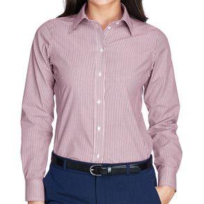Devon & Jones Women's Crown Collection™ Banker Stripe Button Up Shirt