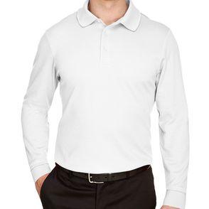 Devon & Jones CrownLux Performance™ Plaited Long Sleeve Polo Shirt
