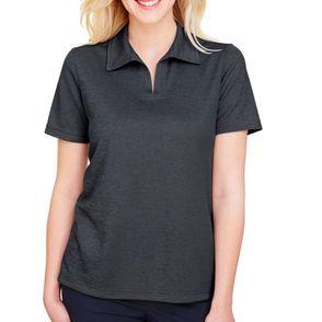 Devon & Jones CrownLux Performance™Women's Melange Polo Shirt